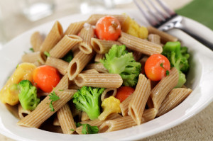 make a meal with whole wheat pasta